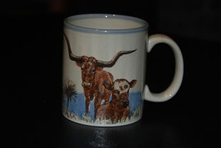 Texas Longhorn Bull Cow Steer Coffee Mug American USA Cowboy Rodeo