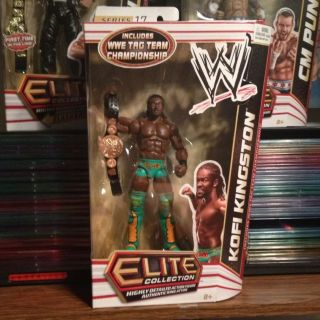 KOFI KINGSTON WWE MATTEL ELITE SERIES 17 FIGURE TAG TEAM CHAMPION