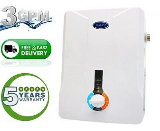 Tankless Hot Water Heater Electric 3.0 GPM 1 2 Bath House On demand