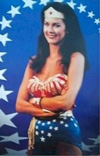 WOMAN Poster   DC Stars And Stripes Full Size ~ TV Show Lynda Carter