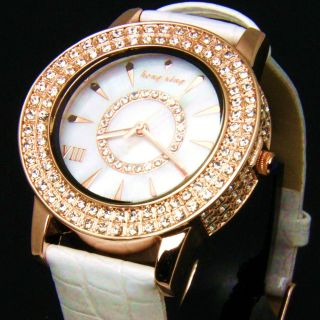 Pearl master Crystal Women Rose Gold / Silver Watch [5 Colour Options