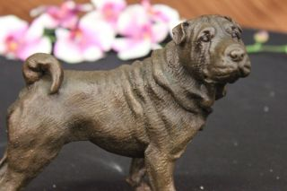 English Mastiff Dog Bronze Marble Statue Breeder Bookend Collector