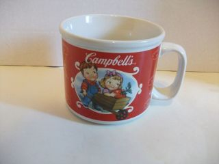 Campbells Soup Mug ~ Country Kids Farming Tomatos