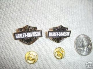 HD harley davidson bar & shield vest hat lapel pin XL