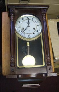 Vintage Chinese made wall clock 31 day time strike working