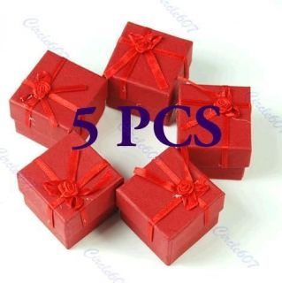 Pcs Jewellery Jewelry Gift Box Case for Ring Square Red