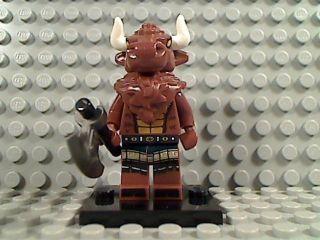 LEGO MINOTAUR Bull Beast Animal Horns Battle Axe Series 6 Minifig 8827