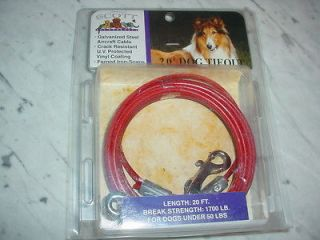 Dog Pet Animal Tieout Tie Out Cable Safety Chain 20 foot feet