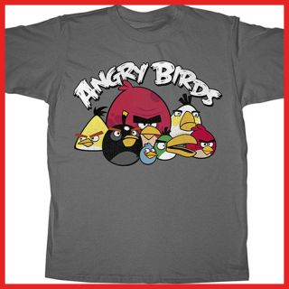 Angry Birds Kids T Shirt Grumbles Gray 4Size Licensed