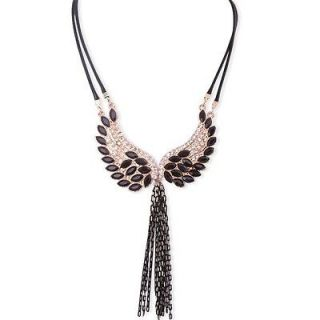 Fashion Bead Angel Wing Pendant Tassel BIB Collar Necklace Jewelry