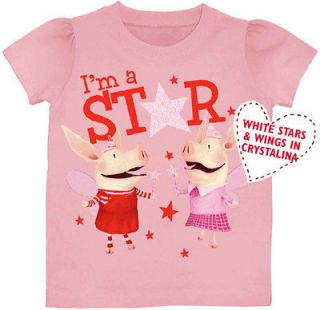 Olivia the Pig Nickelodeon Girls T Shirt PINK Im a STAR 2T 3T 4T 5T