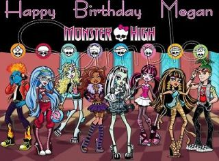 Monster High Frosting Sheet Edible Cake Topper
