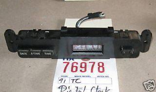 LINCOLN 91 TOWN CAR DIGITAL CLOCK DASH PARTS 1991