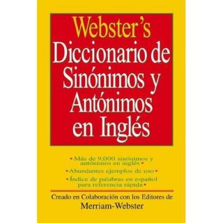 NEW Websters Diccionario de Sinonimos y Antonimos En Ingles   Merriam