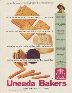 Vintage 1930s Antique NABISCO Oreo COOKIES UNEEDA National Biscuit