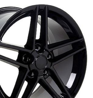 17 Corvette C6 Z06 Black Wheels Set of 4 Rims Fit SS Camaro Trans Am