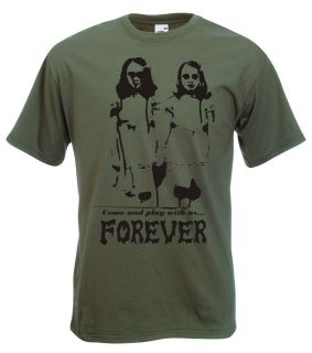 The Shining Twins Come & Play With Us Forever T Shirt, Cult Horror