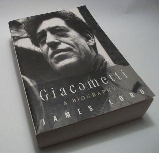 Alberto) Giacometti. A Biography. James Lord. Sculpture. Surrealism