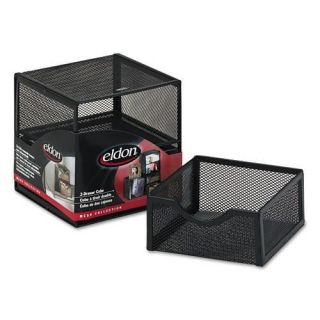 Rolodex Black Wire Mesh Two Drawer Cube Storage