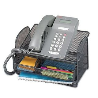 Safco   2160BL   Onyx Angled Mesh Steel Telephone Stand   SAF2160BL