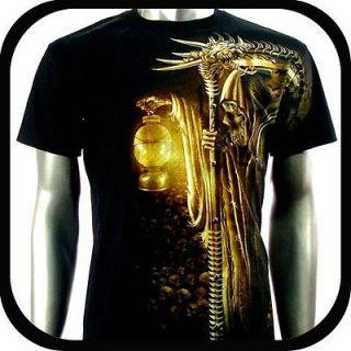 RC Survivor T Shirt Biker Skull Tattoo Rock WB6 Sz XL Indie Graffiti