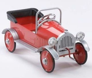 NEW ANTIQUE Airflow Hot Rodder VINTAGE RETRO RED PEDAL CAR
