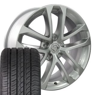 18 Silver Nissan Altima Wheels Set of 4 OEM Rims 62521 and 4 ZR Tires