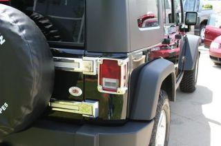 Jeep Wrangler Chrome Tail Light Covers Bezels Guards Putco 400893 NEW