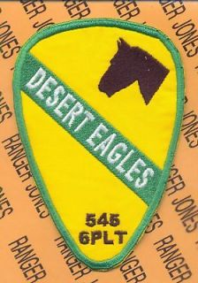 1st Cavalry Div 6 PLT 545 MP Co DESERT EAGLES patch
