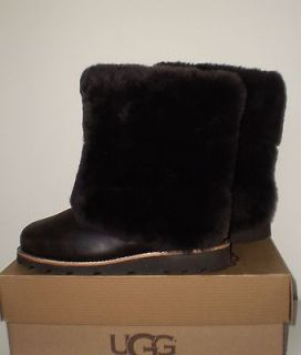 UGG Womens MAYLIN Boot STOUT (BROWN) Leather 7US NWOB MSRP $270