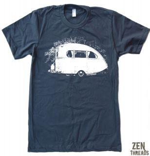 Mens VINTAGE CAMPER american apparel t shirt tee SM 2XL