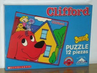 SCHOLASTIC CLIFFORD THE BIG RED DOG PUZZLE 12 PIECE NEW SEALED