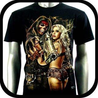 RC Survivor T Shirt Biker Skull Tattoo C56 Sz M L XL XXL Heavy Metal