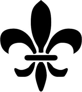 Fleur De Lis Symbol Car Decal Window Sticker