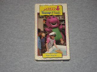 Barney & Friends When I Grow Up. (VHS) Time Life Video OOP