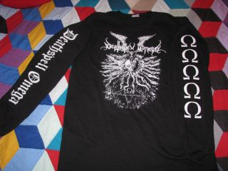 deathspell omega longsleeve t shirt black metal death burzum blasphemy