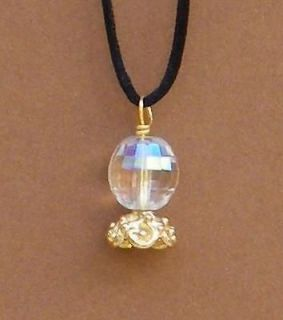 Wizard Jewelry Crystal Ball Charm Pendent Necklace Fortunetelling