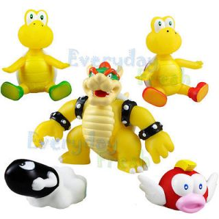 NEW Nintendo Wii Super Mario Bros Bowser Koopa 5 Figure Full Set Toy