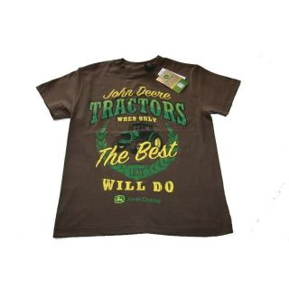 Boys Tee T Shirt Brown 8, 10/12, 14/16, 18 When Only Best Will Do