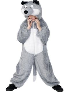 Wolf Plush Child Costume With Hood *New*