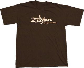 Zildjian Cymbals Classic Chocolate Brown Tee T Shirt   Sizes S M L XL