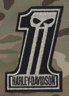ROCKERS 59 TON UP BOY OUTLAW BIKER PATCH: Number 1 Skull 4 Silver