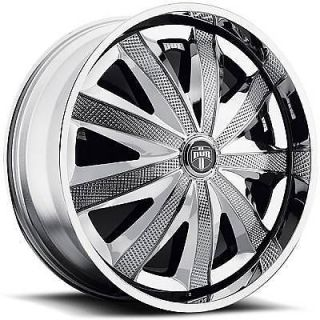 26 DUB SPIN Kraay Wheel SET Chrome Spinner 26x10 RWD 5 & 6 LUG RIMS