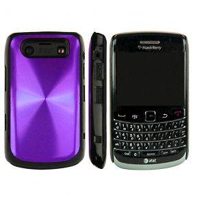 PURPLE BLACKBERRY BOLD 9700 METAL PLATED CASE COVER