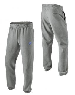 Nike Mens Grey Fleece Sweatpants Jogging Tracksuit Pants Bottoms