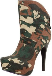 Ankle High Military Dress Platform Sheryl 2 Stiletto Heel Bootie Shoe