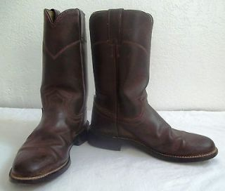 Womens/Ladies Brown Justin Basics SZ 6 1/2 Western Roper Cowboy