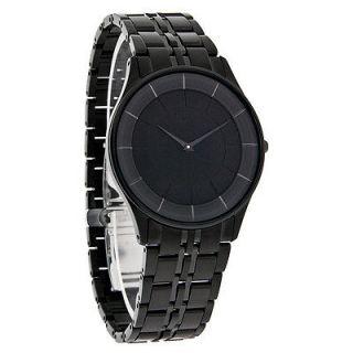Citizen Stiletto Eco Drive Mens Black Stainless Steel Dress Watch