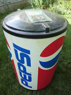 Pepsi Cola Party Large Plastic Can Cooler 37 Inches Tall
