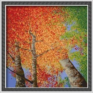 Acrylic Paint by Number Kit DIY Painting 40x40cm (16x16) the Fall